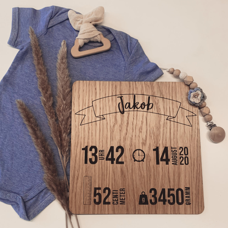 HolztafelGeburt 1500x1500 - Küche & Haushalt